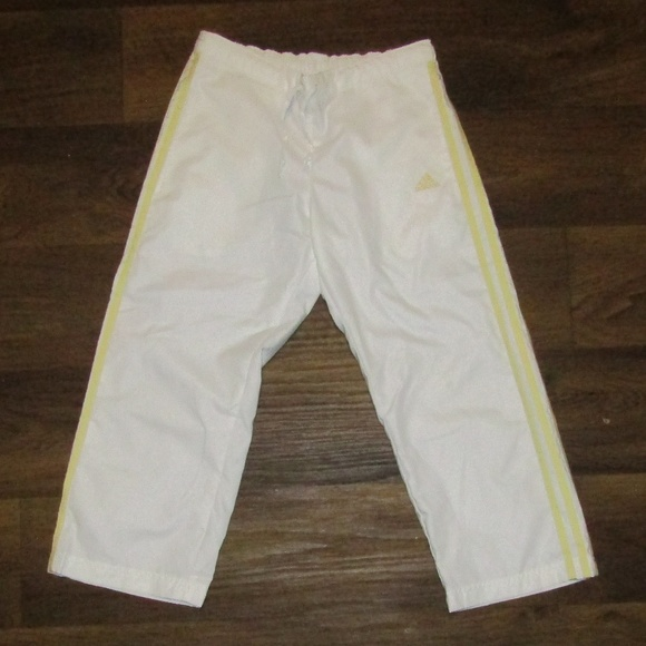 adidas Other - Adidas White Yellow Running Pants Size S Jogging